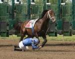jockey falling off horse